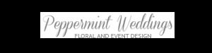 header logo, peppermint weddings