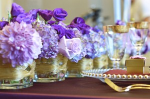 gold and purple wedding, peppermint weddings, toronto wedding floral, toronto wedding flowers