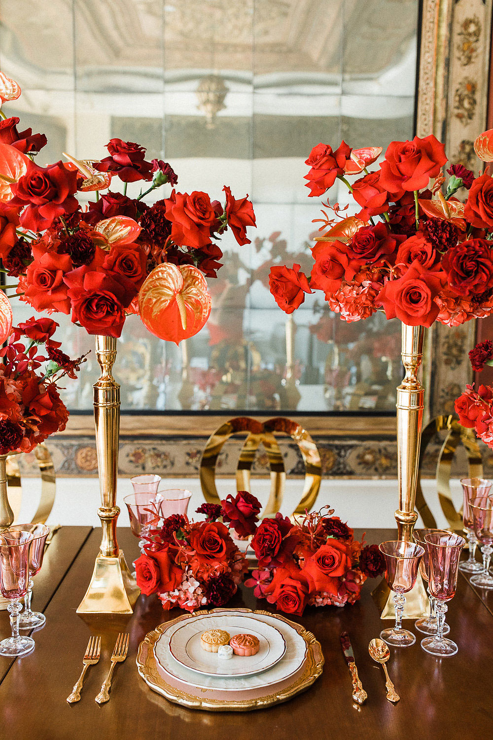 red and gold wedding toronto