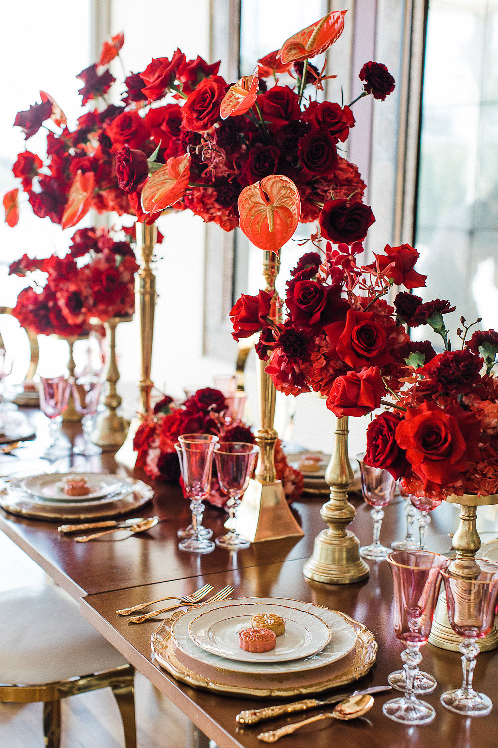 red and gold toronto luxury wedding