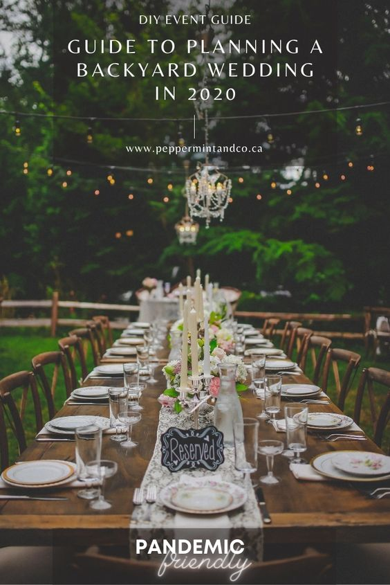 Planning a Backyard Wedding: 2020 guide -4