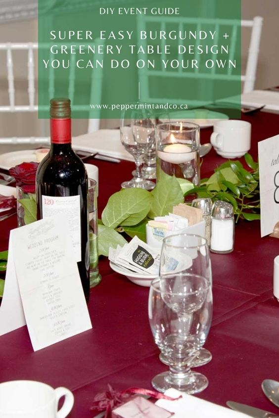 Burgundy and Greenery Wedding design - 34