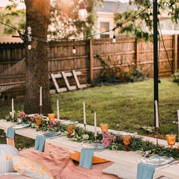 Is a Backyard Wedding Cheap? - outdoor picnic wedding