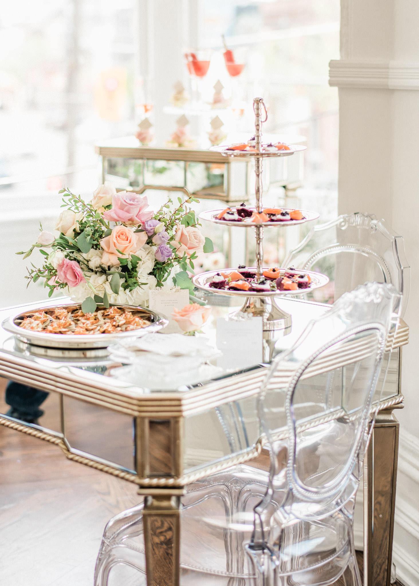 Pastel Wedding Design Cocktail Event Guide - 3