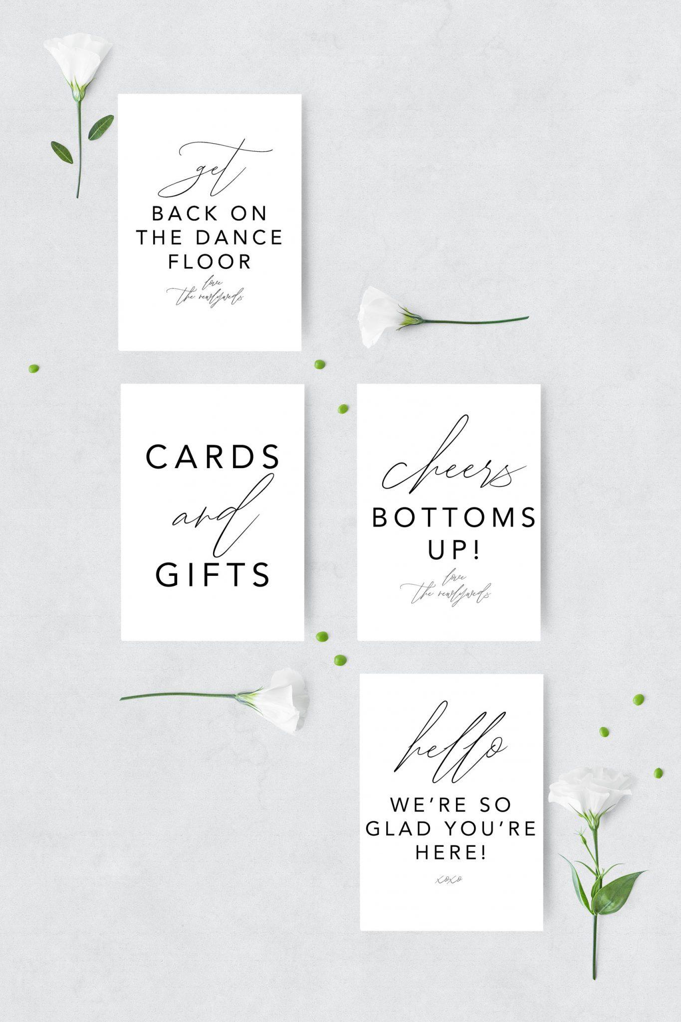 FREE WEDDING PRINTABLES: Planning Binder, Invitation Suite and Minimalist Signs - 4545