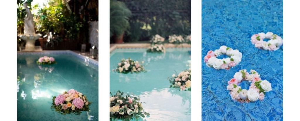 Easy DIY Pool Flowers for your poolside wedding (floaties!)