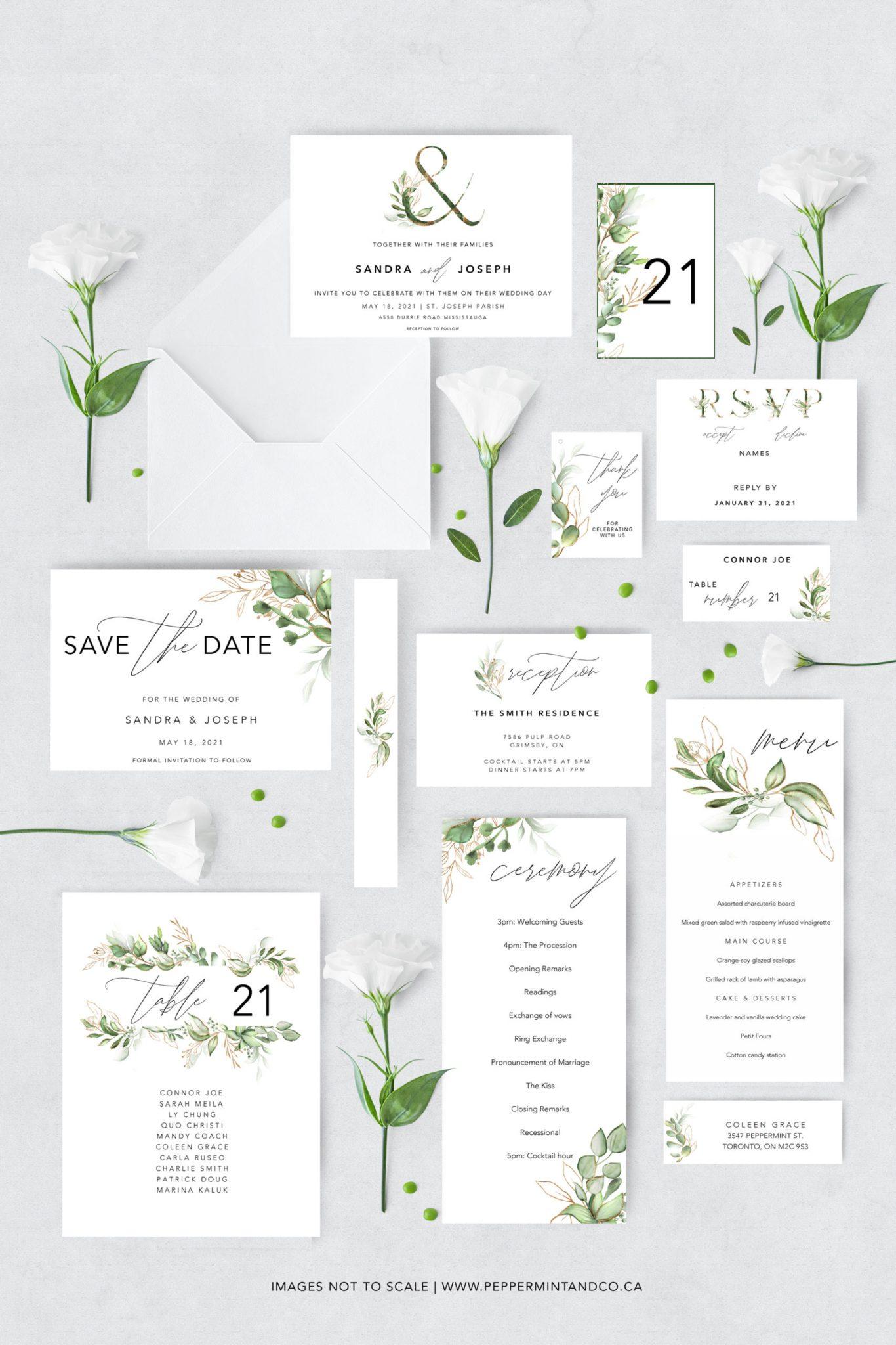 FREE WEDDING PRINTABLES: Planning Binder, Invitation Suite and Minimalist Signs - 23