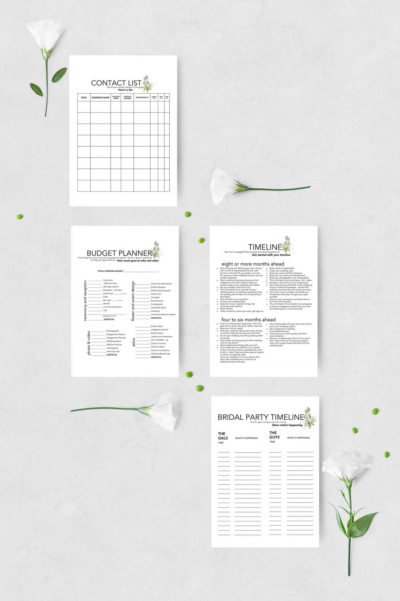 FREE WEDDING PRINTABLES: Planning Binder, Invitation Suite and Minimalist Signs - 2
