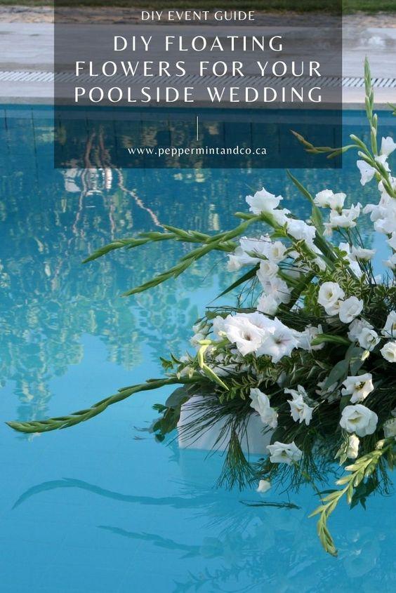 Easy DIY Pool Flowers for your poolside wedding (floaties!) - 2343