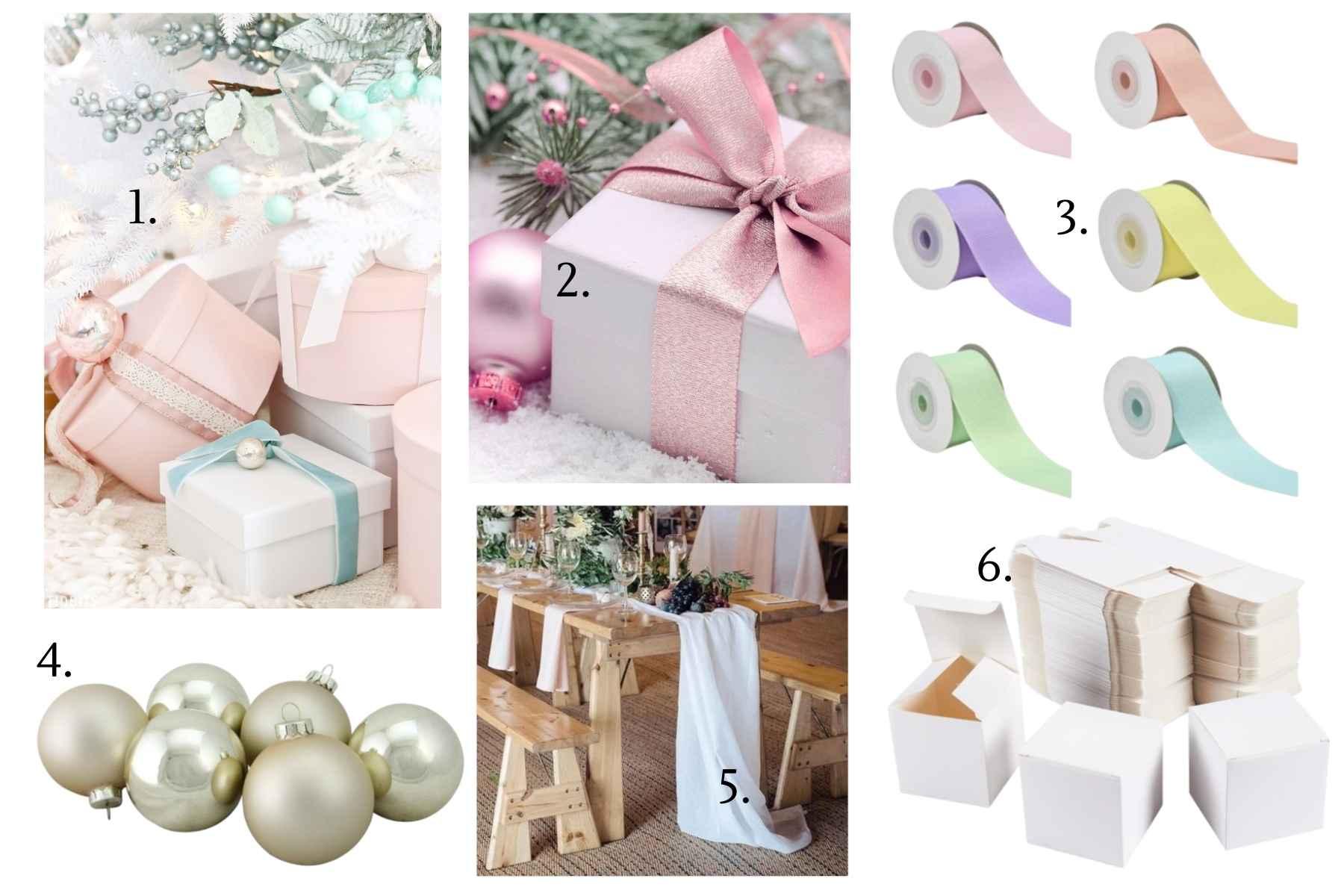 DIY Christmas Wedding Centerpiece - 3