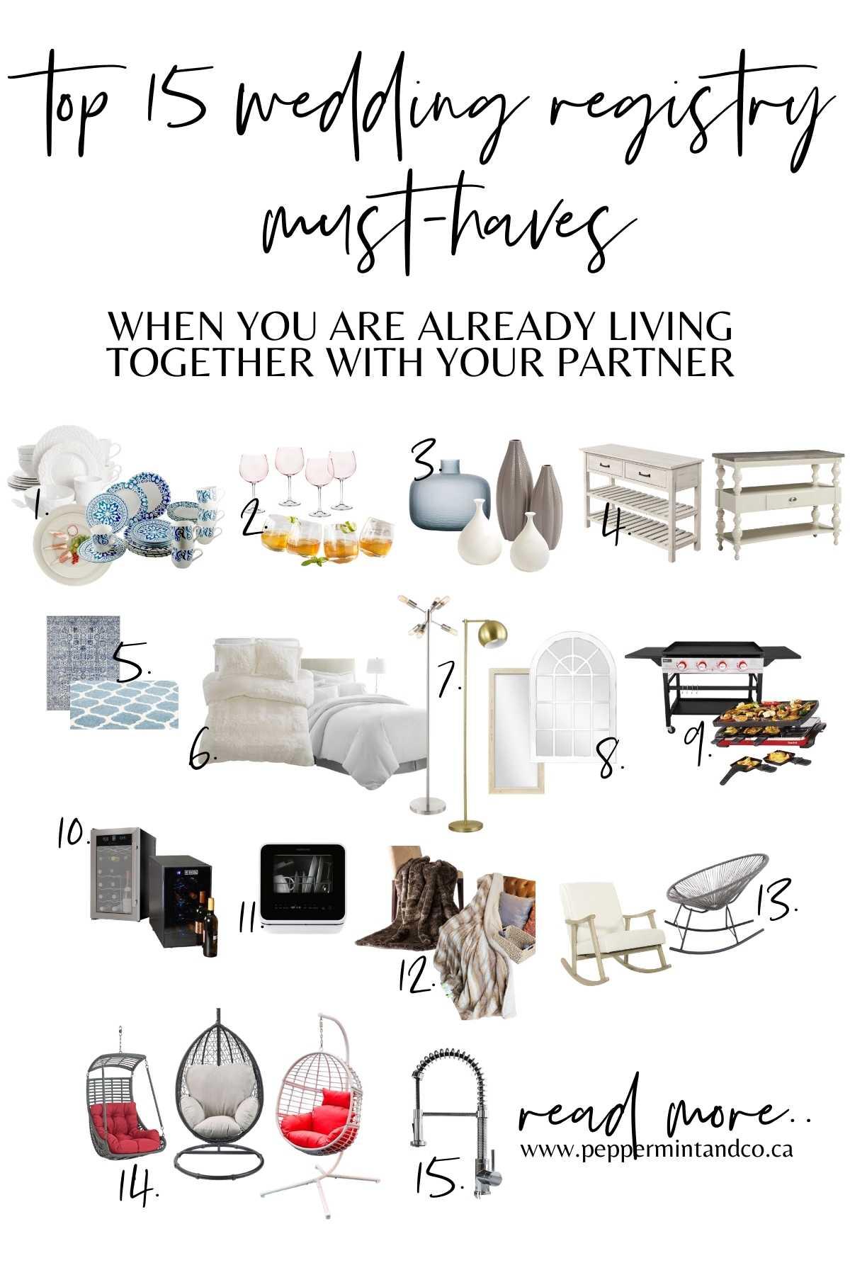 Wedding Registry: Couples Living Together