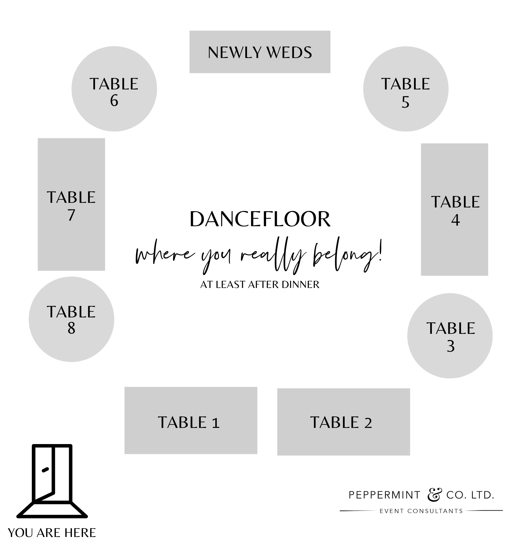 how to make a wedding seating chart - table guide