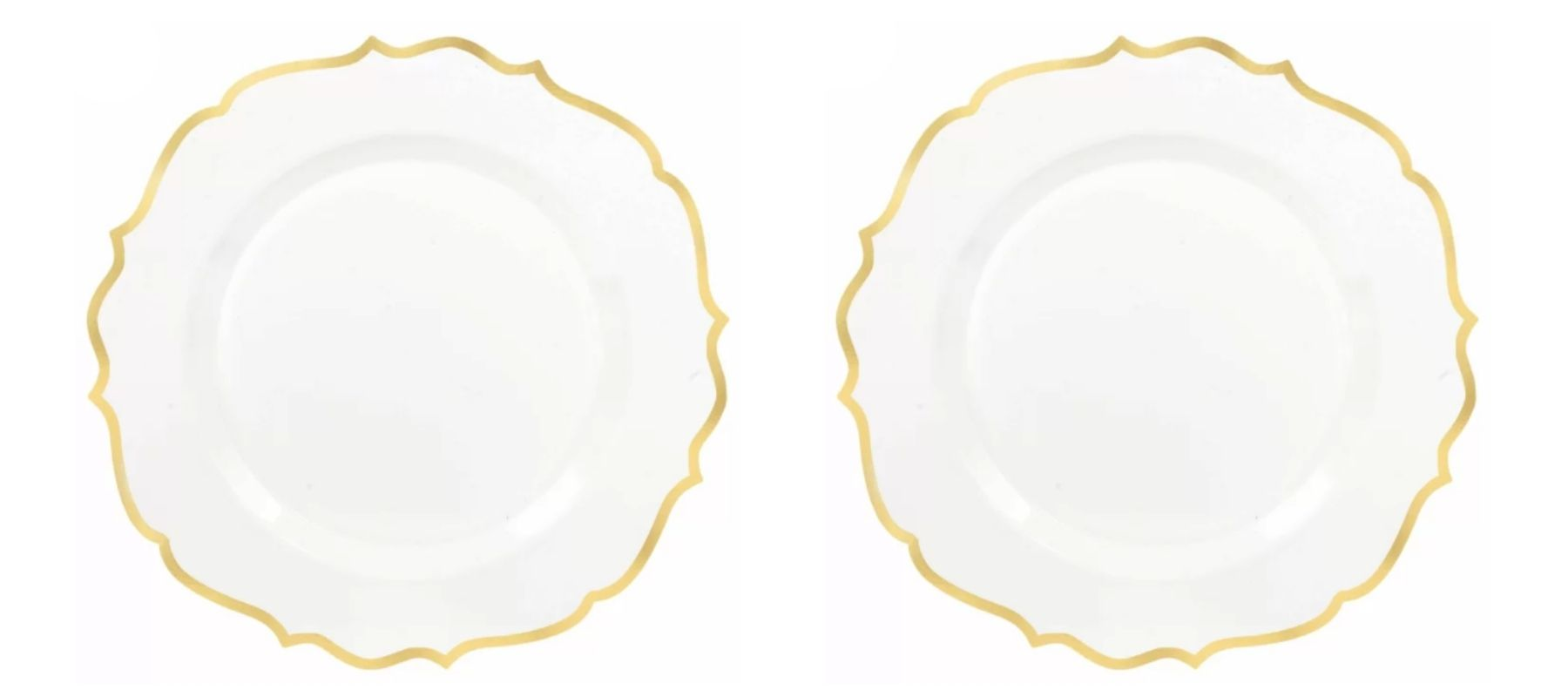 Ornate Heavy Weight Plastic Dinner Plate by Amscan - Best Disposable Plates for Wedding