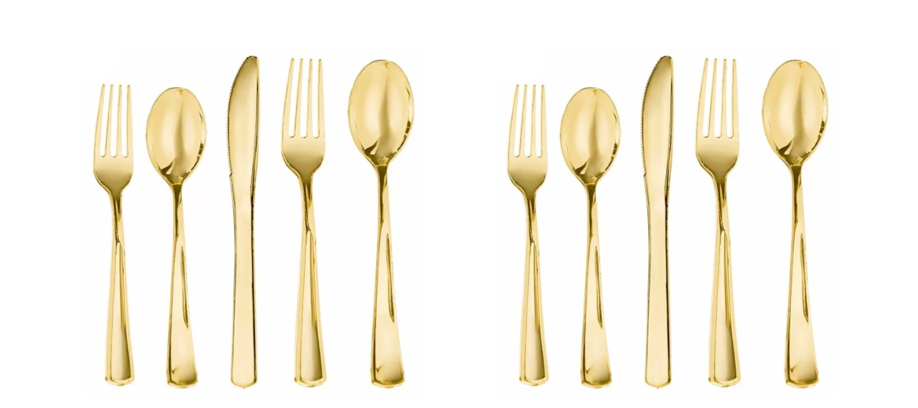 Best Disposable Plates for your Wedding - amscan gold utensils plastic