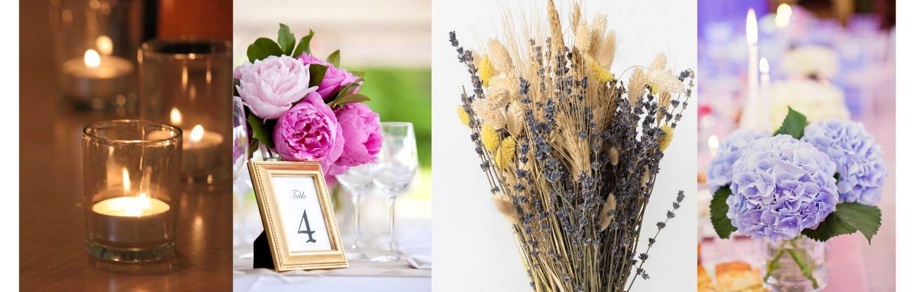 Tips for a DIY wedding - centerpieces