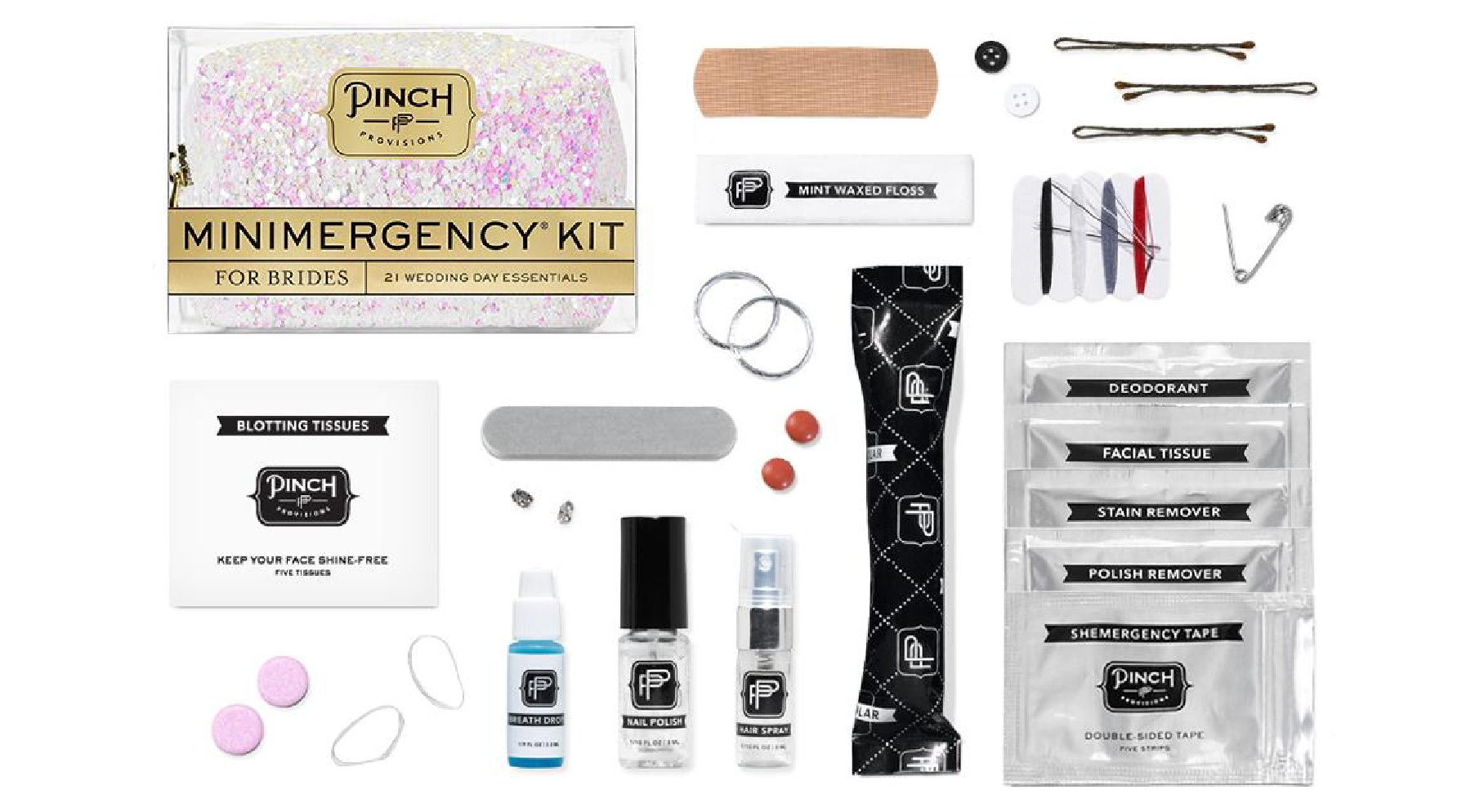 What to put in your Wedding Emergency Kit - mini emergency kit