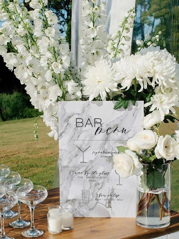 Beautiful Wedding Bar Signs