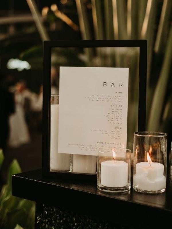 Beautiful Wedding Bar Signs - minimalist
