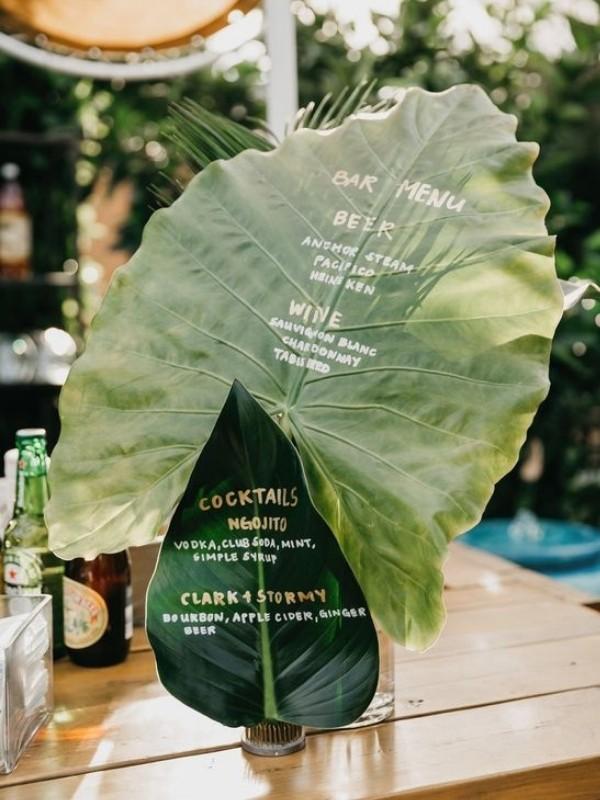 Beautiful Wedding Bar Signs - tropical