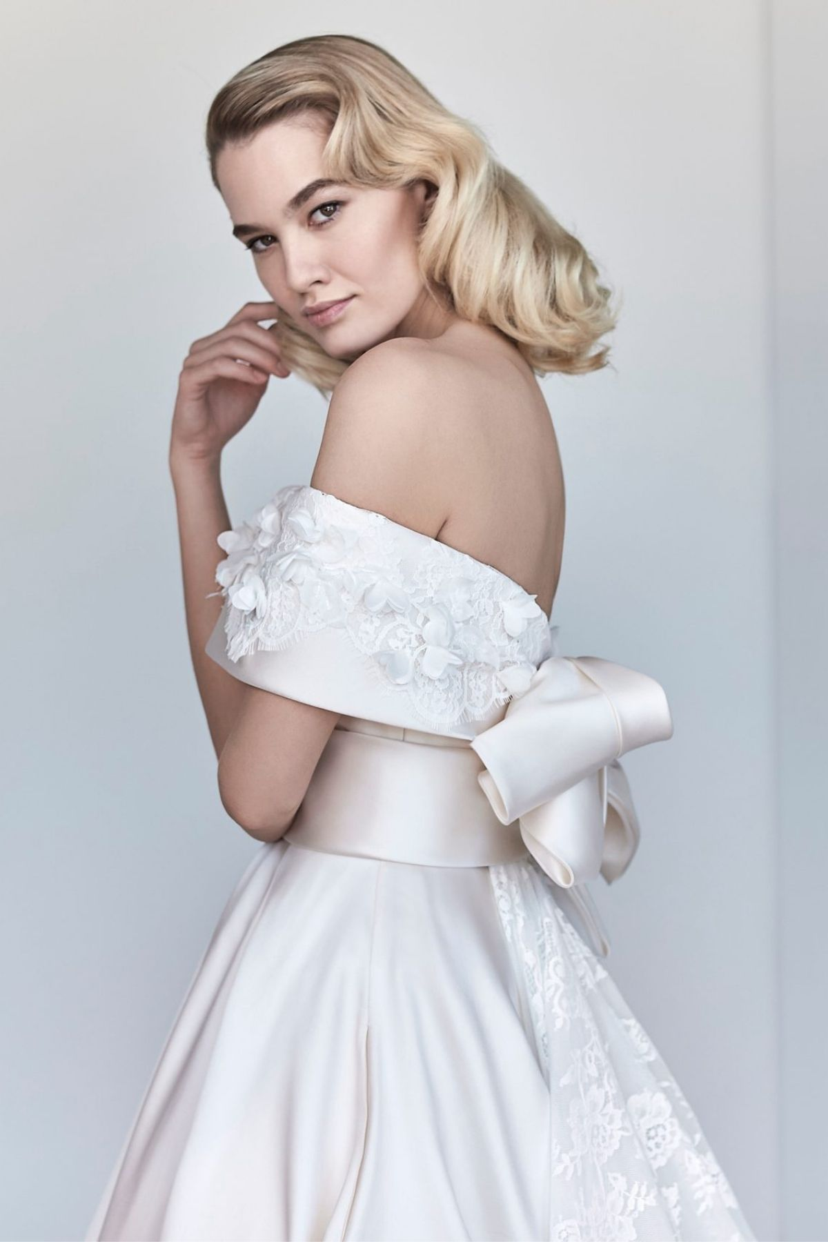 3. Maison Signore // OFF THE SHOULDER PINK BALL GOWN WEDDING DRESS -