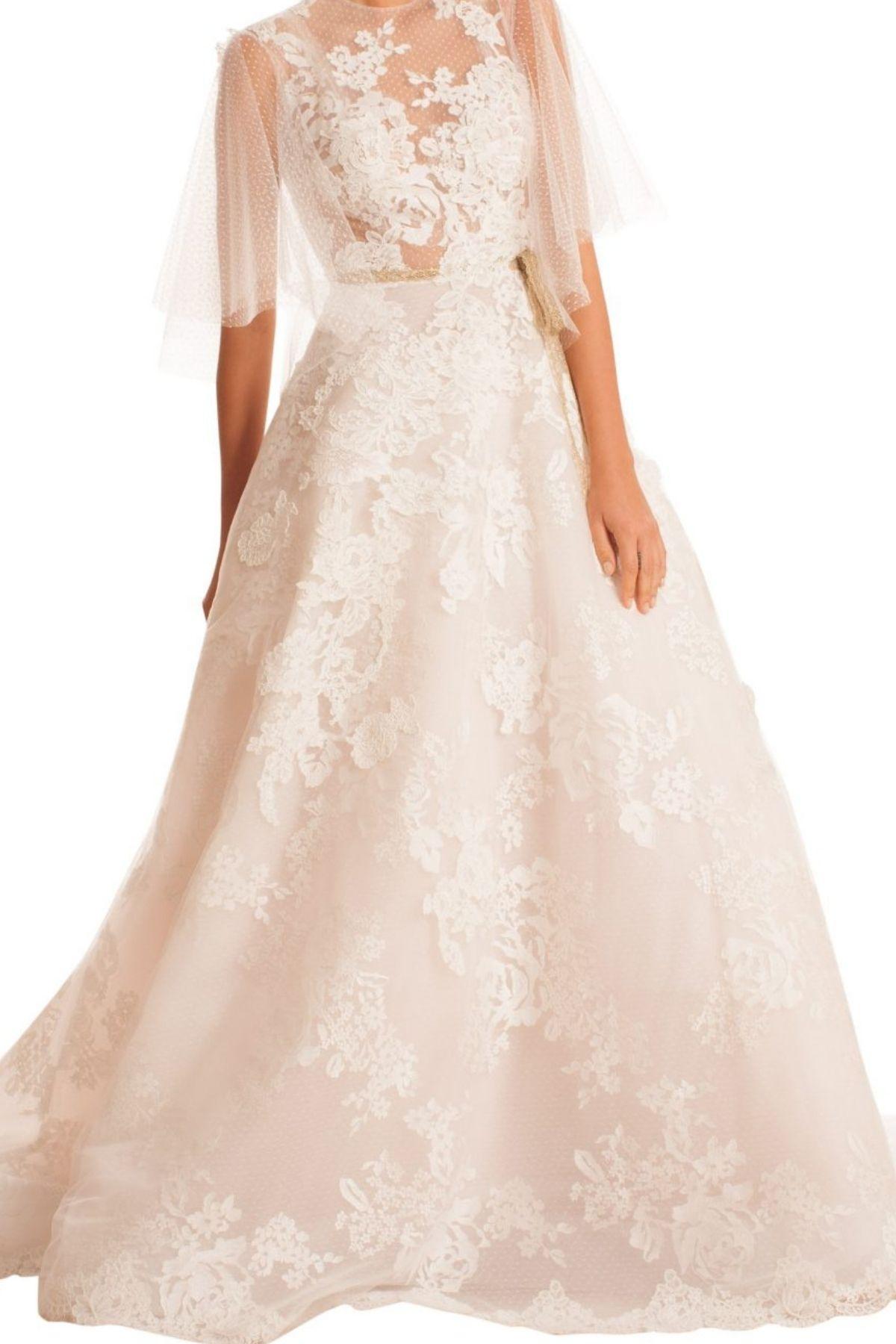 10. Edgardo Bonilla // SHEER 3/4 SLEEVED TULLE WEDDING DRESS - Designer Bridal Dresses over $5k: Our top 10 favorites