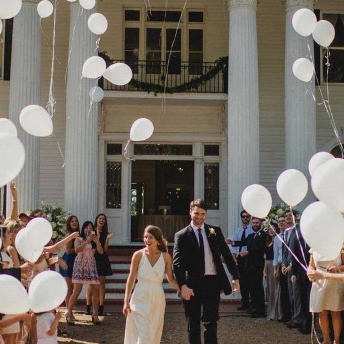 Creative and Fun Wedding Exit Send-off: balloons