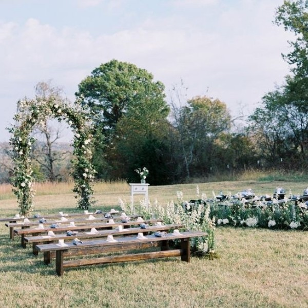 Wedding Ceremony Seating Configuration Ideas - benches