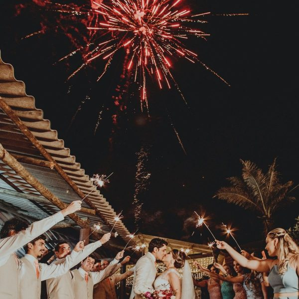 Creative and Fun Wedding Exit Send-off: fireworks