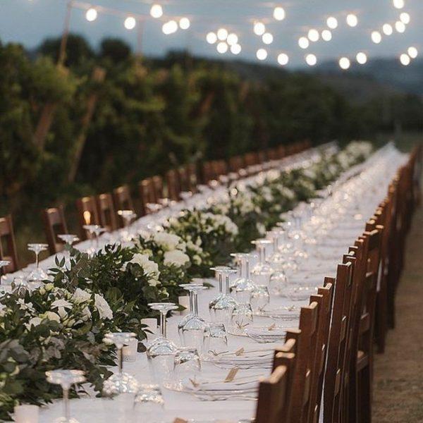 Wedding Reception Seating Configuration Ideas - long banquet