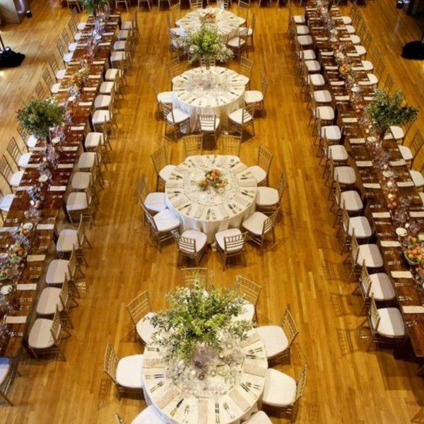 Wedding Reception Seating Configuration Ideas - mix of round and rectangular