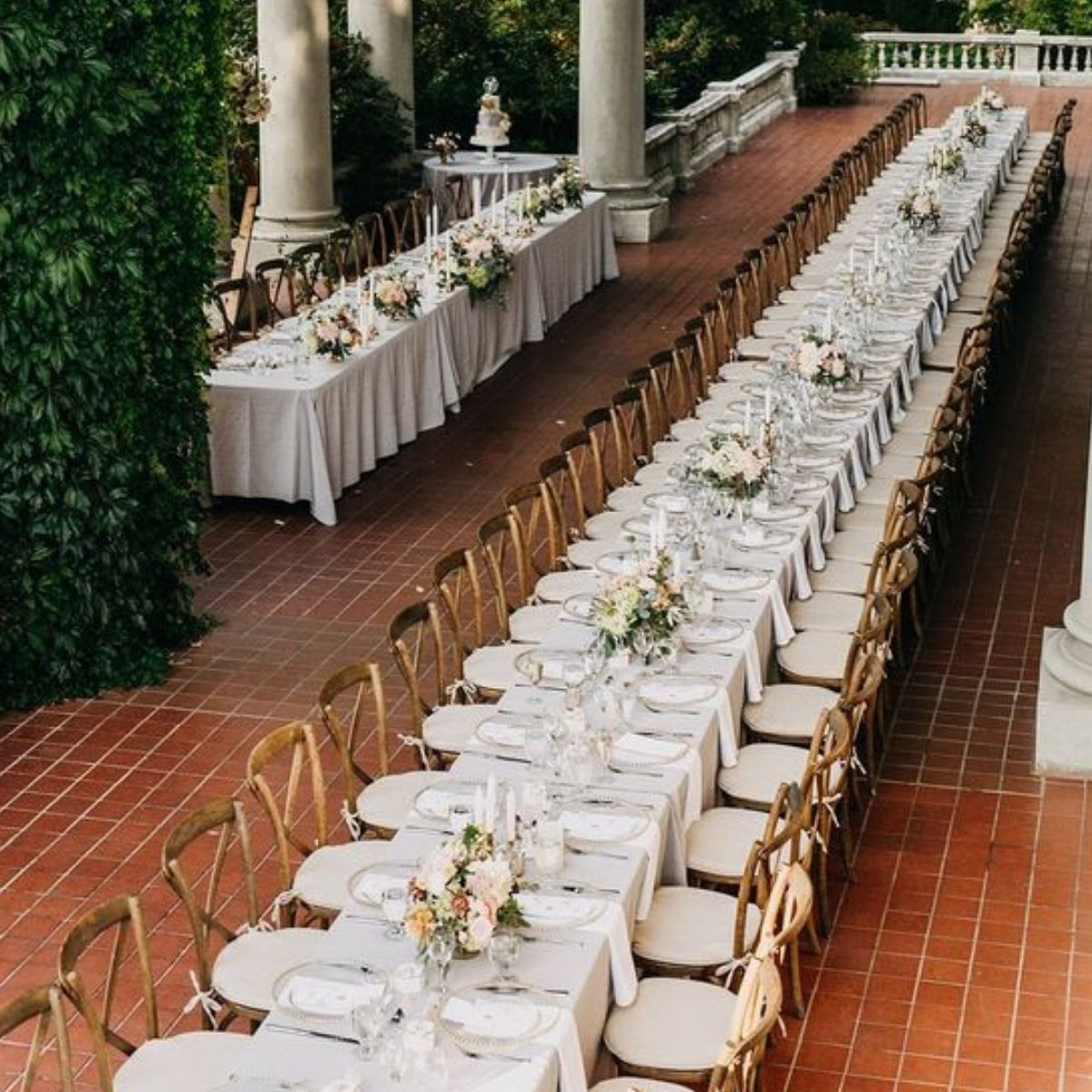 Wedding Reception Seating Configuration Ideas - one long table