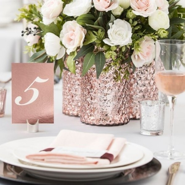 Easy Wedding Color Combos: Top 14 rose gold 2
