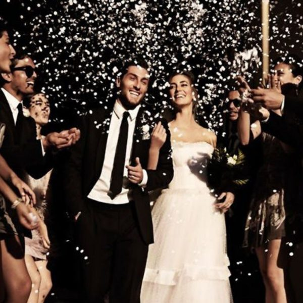 Creative and Fun Wedding Exit Send-off: rose petals