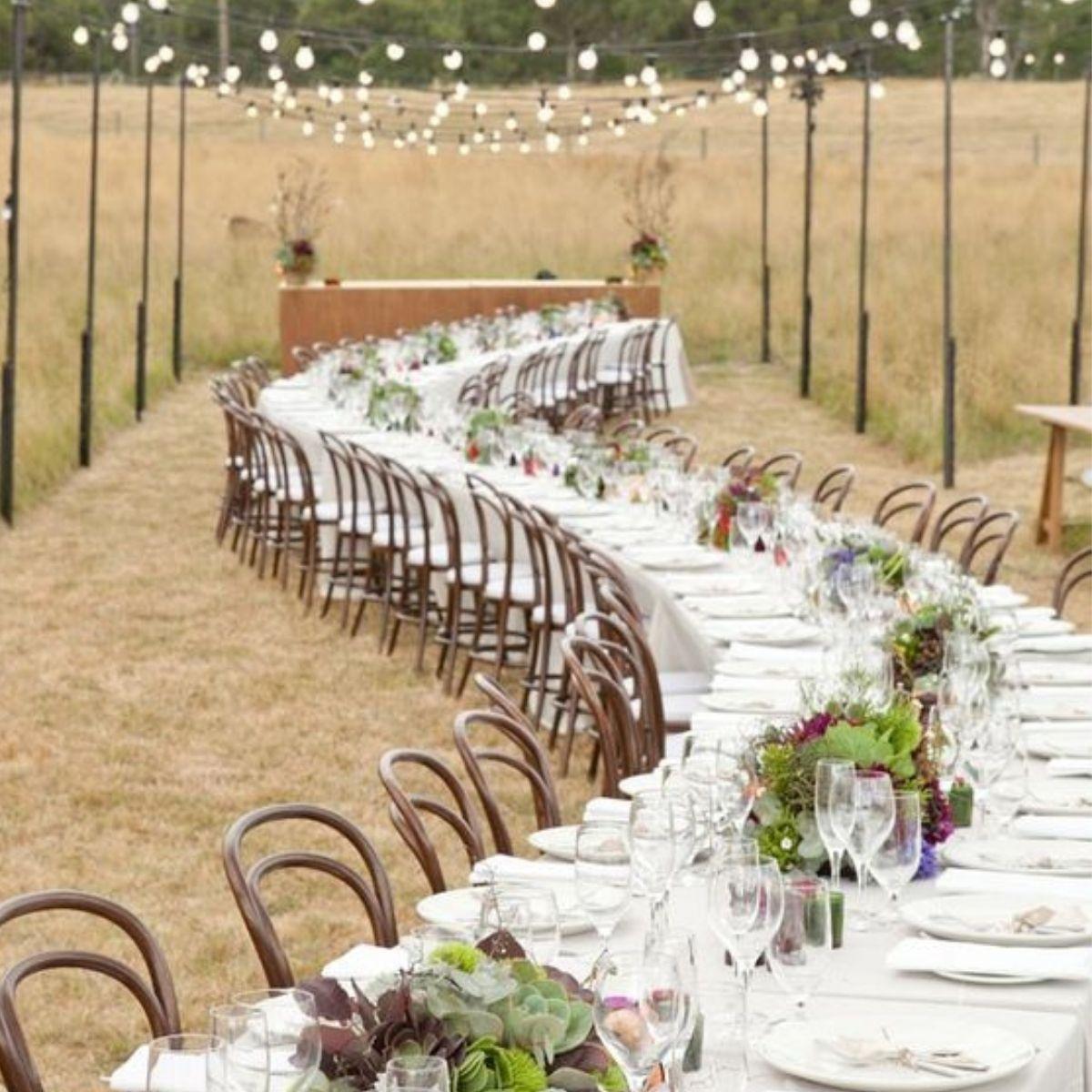 Wedding Reception Seating Configuration Ideas - serpentine