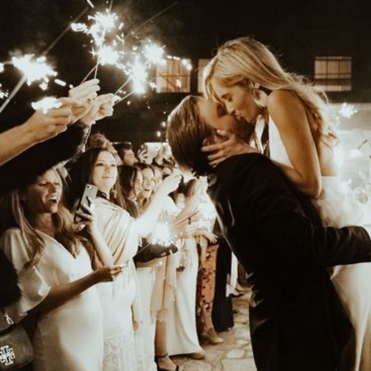Creative and Fun Wedding Exit Send-off: sparklers
