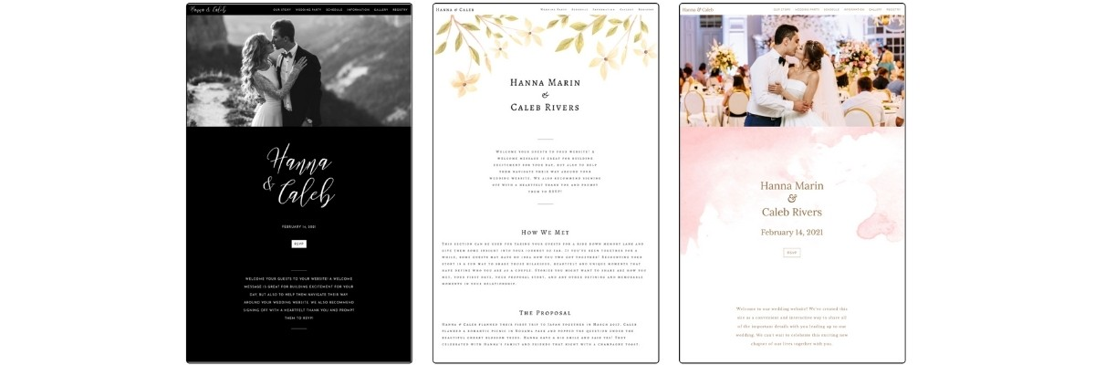What to put on your wedding  website 2
