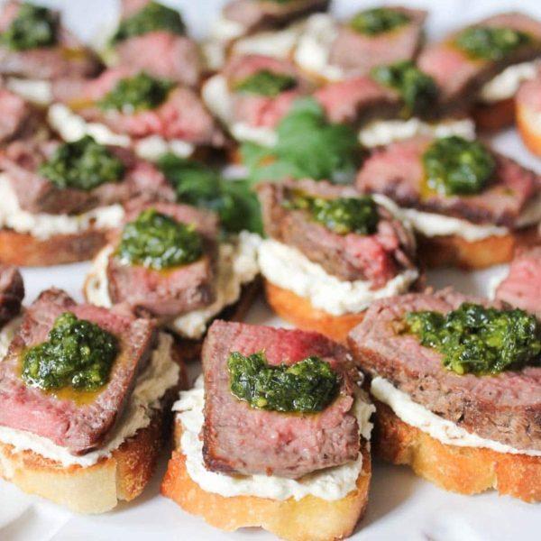 18. Beef Tenderloin Crostini - DIY Cocktail Micro Wedding: Top 20 Easy Appetizers 2