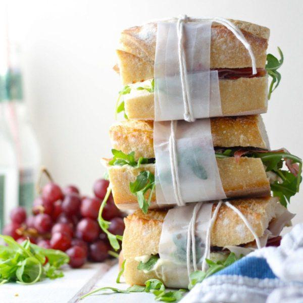 16. No Mess Prosciutto Sandwiches
