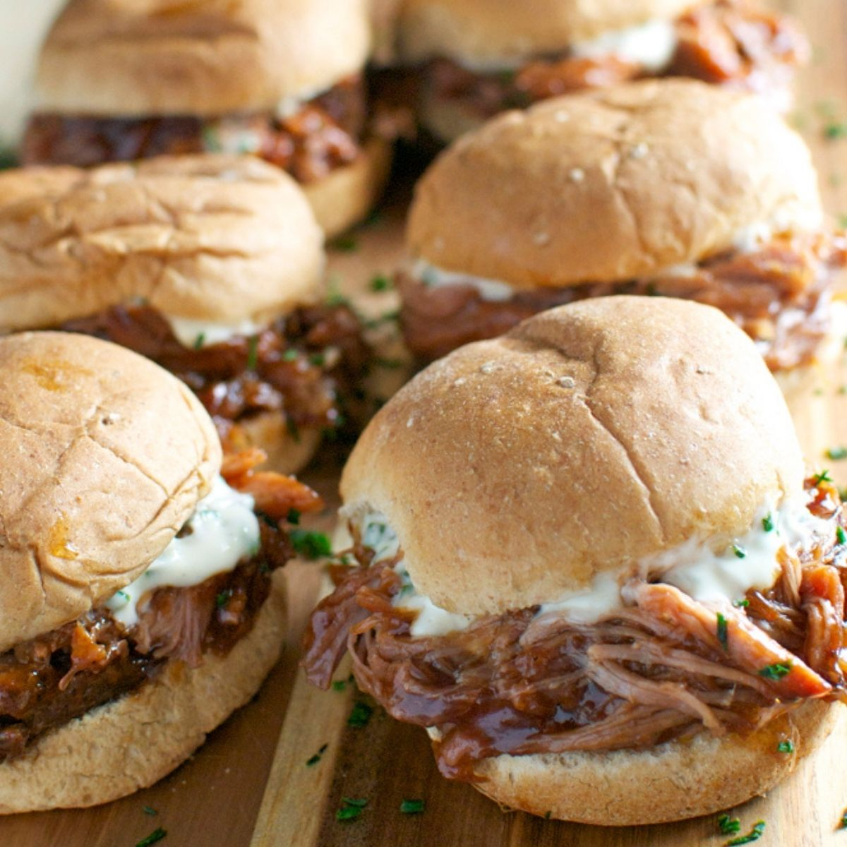 11. Pulled Pork Sliders with Garlic Aioli - DIY Cocktail Micro Wedding: Top 20 Easy Appetizers + HACKS. Part 2 of 2.