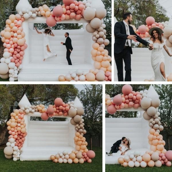 Cocktail Party Wedding Entertainment - bouncy castle