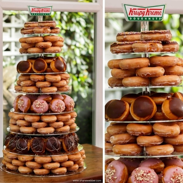Cocktail Party Wedding Entertainment - donut tower