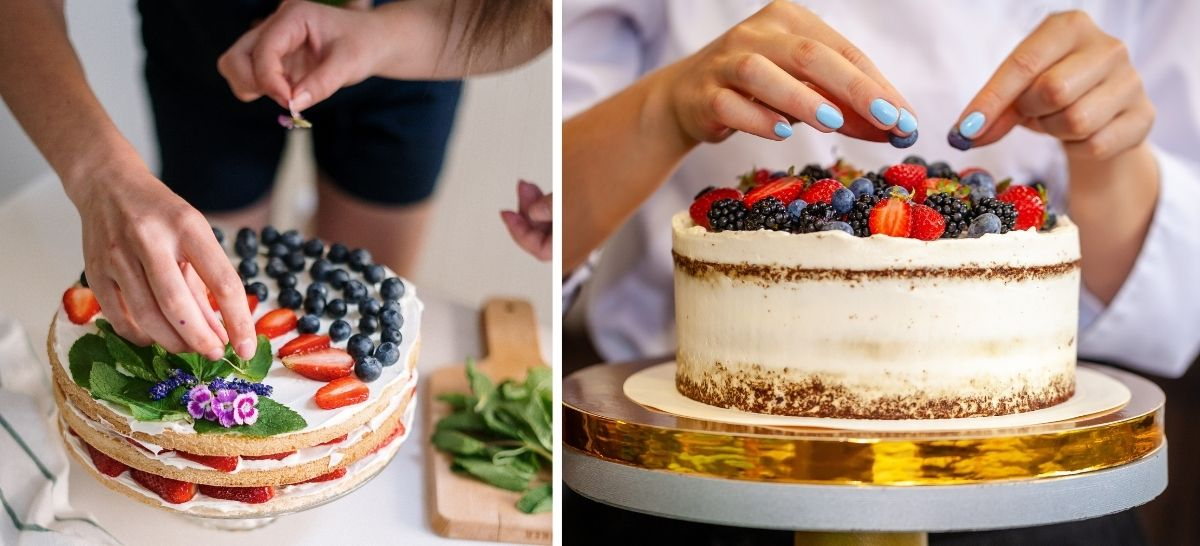DIY Make your own Wedding Cake Hacks and Tips - berry cake