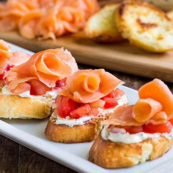 19. Smoked Salmon Crostini - DIY Cocktail Micro Wedding: Top 20 Easy Appetizers 2