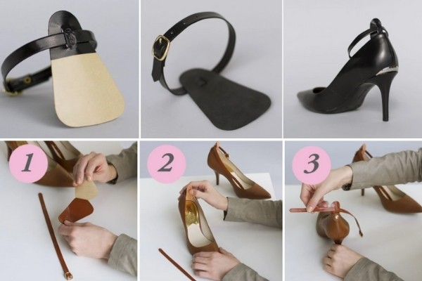 Make your wedding shoes more comfortable - custom strap