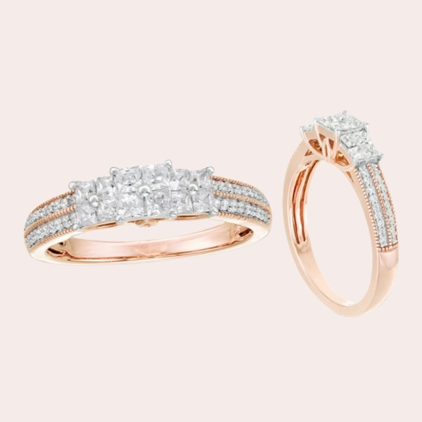Top 5 Classic & Timeless Engagement Ring Guide - three stone double row