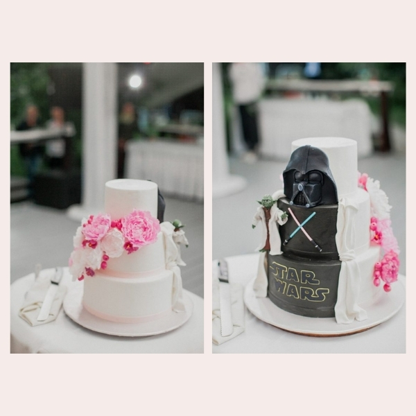 How to Incorporate Favorite Movies & Shows into My Wedding - cake