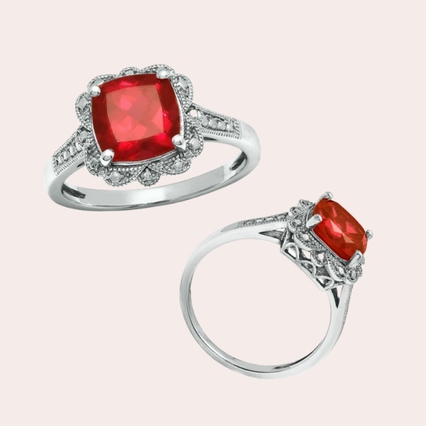 1.-8.0mm-Cushion-Cut-Lab-Created-Ruby-Vintage-Style-Ring-in-Sterling-Silver - ENGAGEMENT