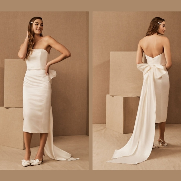 2. Amsale Merion Bow Dress - Chic and Casual Wedding Dresses: Top 5