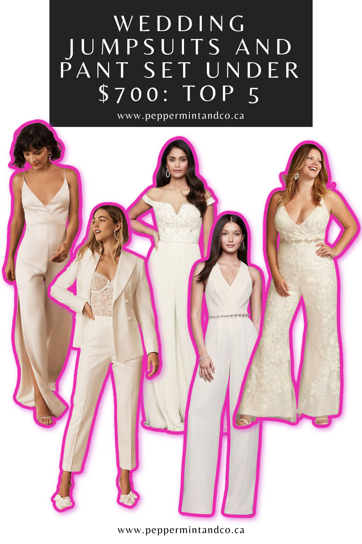 Wedding Jumpsuits and Pant Set under $700: Top 5
