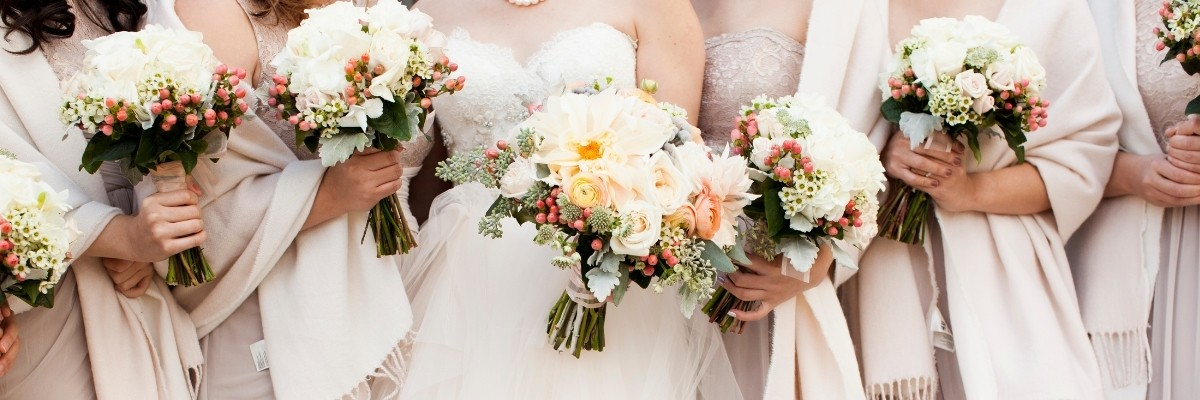 How to Plan an at-Home Wedding - bridemaids